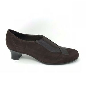Munro American Brown Leather Suede Shoes 11
